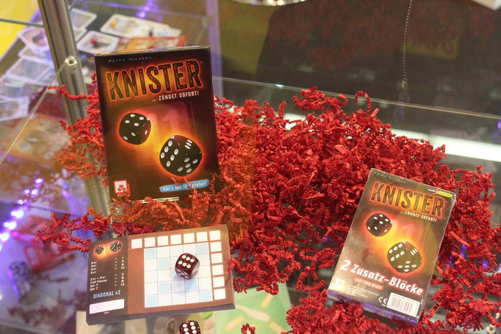 Knister - Roll and write dice game from NSV games.
